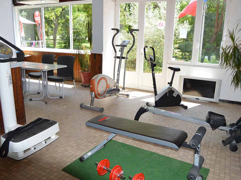 salle fitness camping sud ardeche